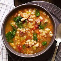 Slow-Cooker Smoky Navy Bean Soup