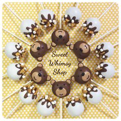 12 Teddy Bear & S'mores Cake Pops - for campout, glamping, fall wedding, groom's cake, woodland, forest, campfire, sleepover, baby shower