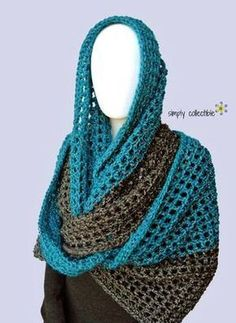 Coraline in Minden Oversized Cowl and Wrap free crochet pattern by Celina Lane, Simply Collectible Poncho Crochet, Col Crochet, Crochet Scarves, Crochet Clothes, Free Crochet, Easy Crochet Patterns, Crochet Designs, Scarf Patterns, Wrap Pattern