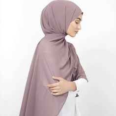 INAYAH | Lustrous shades of purple - Blackberry Soft Crepe Hijab Flint Soft Crepe Hijab www.inayah.co