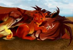 Red XIII and Seto by hylianknight246.deviantart.com on @deviantART