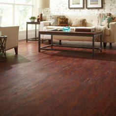 TrafficMASTER Allure 6 in. x 36 in. Cherry Luxury Vinyl Plank Flooring (24 sq. ft. / Case)-12012 - The Home Depot