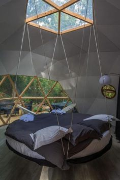 Geodesic dome for two with whirlpool, Soorts HossegorYou can find Geodesic dome and more on our website.Geodesic dome for two with whirlpool, Soorts Hossegor Round House Plans, Dome Structure, Geodesic Dome Homes, Luxury Tents, Dome Tent, Dome House, Dream Rooms, Cool Rooms