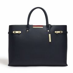 Blue - Windsor vegan Tote, Blue non leather Tote Bag