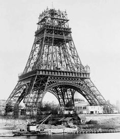the building of the Eiffel Tower...credit Megaphoto