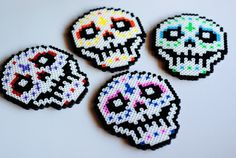 sick candy skull coasters or wall art by POP THAT...