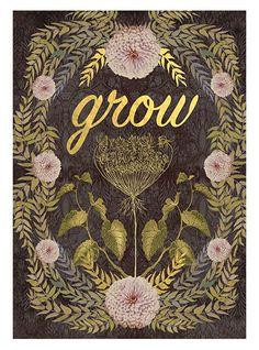 Grow, Greeting Card by PAPAYA! Artwork by Anahata Katkin.