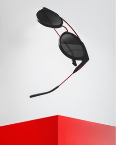8d651651637 Fall in summer lovin  with these seriously scarlet red Double Bridge  sunglasses.  westwardleaning