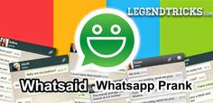 How To Create Fake WhatsApp Conversation Using WhatsSaid:-  Well Playing pranks with your friends fun!! Here we post many awesome tricks through which you can have fun in your life. So today again I got another Android Application called WhatsSaid. I thought it would be nice idea to share this with you all :). By using this you can easily create fake WhatsApp Conversations and prank your friends :D
