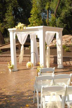 Wedding Decor Backdrop Options...  Simple White Gazebo