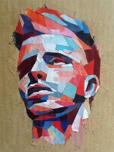 Collage Portrait, Abstract Portrait, Portraits, Paper Collage Art, Collage Drawing, Art Of Man, Ap Art, Art Portfolio, Art Plastique