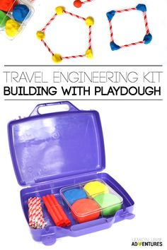 Perfect for summer road trip breaks! Travel Engineering Kit Building with Playdough Set Craft Activities For Kids, Science Activities, Montessori Activities, Science Books, Computer Science, Kids Crafts, Stem Science, Science For Kids, Life Science