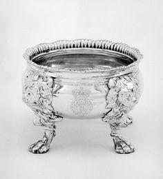 Set of four saltcellars Paul de Lamerie (British, 1688–1751, active 1712–51) Date: ca. 1735 Culture: British, London Medium: Silver