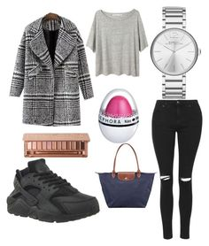 """""""Go to school"""" by amelie350 on Polyvore featuring Topshop, NIKE, Longchamp, Urban Decay, Marc by Marc Jacobs and Acne Studios"""