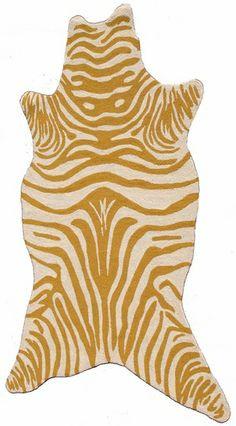 Zebra Yellow Shaped Rug