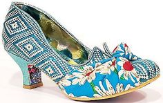 Irregular Choice Dazzle Pants Turquoise Womens Ladies Court Shoes High Heels