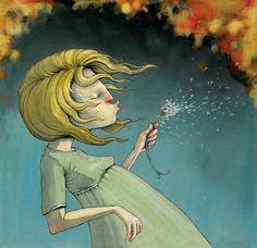 Lisa Aisato Kawaii Illustration, Children's Book Illustration, Graphic Design Illustration, Dandelion Art, Children's Picture Books, Reference Images, Drawing People, Illustrator, Cartoon