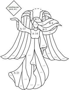 "Radiant Angel pattern. Pattern is ~7.5"" wide x 9.5"" high"