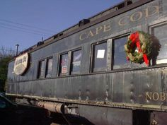 """-Train decorated for Christmas"""" - Photo of Cape Cod, Massachusetts by ..."""