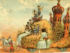 Mardi Gras Floats, New Orleans, 1880s | Retronaut