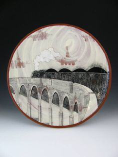 Artist: Kip O'Krongly, Title: Coal Train Platter - click to go back to previous page