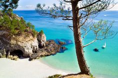 The OTHER French Riviera: Who needs the Med when you can head west to the unspoiled Atlantic coast? Spain Travel, France Travel, Beach Hotels, Beach Resorts, Falaise Etretat, French Beach, Riviera Beach, Brittany France, Miramar Beach