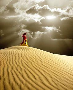 Young women in the Thar Desert-Jaiselmer, Rajasthan, India