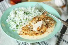 Sajtszószos pulykamell - egyszerű és király kaja | Street Kitchen Salty Foods, Mashed Potatoes, Grains, Rice, Ethnic Recipes, Whipped Potatoes, Smash Potatoes, Jim Rice
