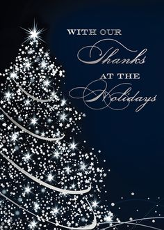 95 best business holiday greetings images on pinterest in 2018 sparkling thanks holiday greeting cards send thanks to your colleagues and customers for their business with m4hsunfo