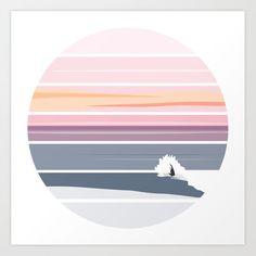 Sunset Surf Art Print by hasta Geometric Background, Geometric Art, Silouette Art, Parking Spot Painting, Paint Decor, Sunset Surf, Coaster Design, Surf Art, Slogan