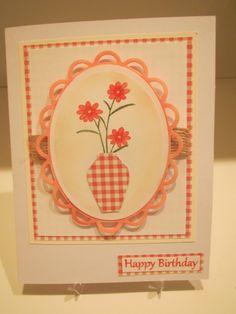 "Using Gina K's ""Vogue Vases 2"" stamps"
