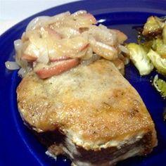 Apple-Sage Pork Chops Allrecipes.com #MyAllrecipes #AllrecipesAllstars #AllrecipesFaceless