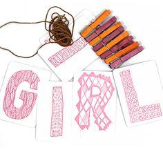It's a Girl Letterpr