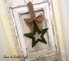 Technique: A frame made to look old with spray paint and vaseline by Down to Earth Style: A Salvaged Frame