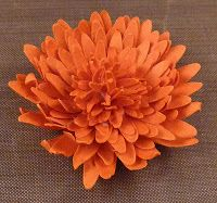 Several paper flower tutorials, including this chrysanthemum.