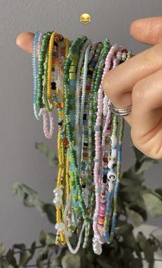 Funky Jewelry, Trendy Jewelry, Summer Jewelry, Cute Jewelry, Diy Jewelry, Jewelry Accessories, Bead Jewellery, Beaded Jewelry, Beaded Bracelets