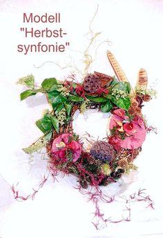 Door Wreath Floristry Winter Country House Decoration | Etsy OndiPur Deko  Und Floristik Shop | Pinterest