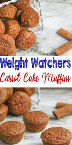 Weight watchers carrot cake muffins best ww recipe breakfast treat snack with freestyle points weight watchers baked breakfast taquitos are easy to make and only 2 3 smartpoints each! this weight watchers recipe is great for any meal or even a snack! Weight Watcher Desserts, Weight Watchers Snacks, Muffins Weight Watchers, Weight Watchers Kuchen, Plats Weight Watchers, Weight Watchers Breakfast, Weight Watchers Carrot Cake Recipe, Weight Watchers Cupcakes, Weight Watcher Cookies