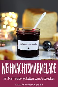 Christmas jam with cranberries and … - Easter Recipes Valentines Day Dinner, Valentines Day Desserts, Easter Recipes, Dessert Recipes, Jam Label, Christmas Jam, Chocolate Gifts, Healthy Chocolate, Baking Ingredients