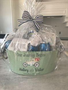 Diy Bridal Shower Gift Basket Our Journey Has Just Begun Baskets