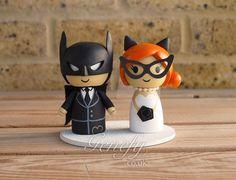 Batman and Catwoman wedding cake topper by GenefyPlayground  https://www.facebook.com/genefyplayground
