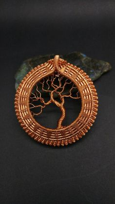 Copper Tree of Life Medallion by CooksCustomArtwork on Etsy