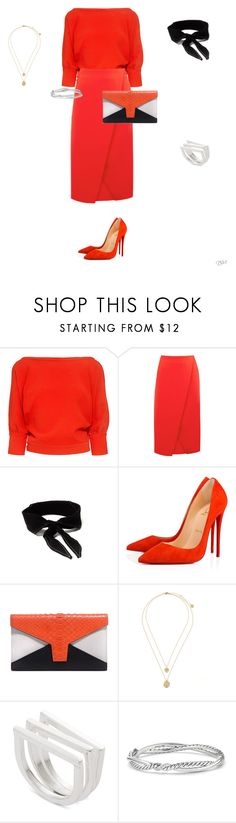 """""""Untitled #99"""" by apwbd ❤ liked on Polyvore featuring Rachel Comey, Warehouse, Christian Louboutin and David Yurman"""