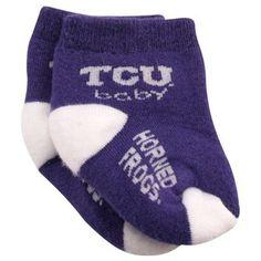 TCU Horned Frogs Infant Purple-White Team Logo Bootie Socks