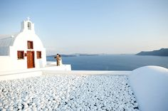 Ahhhhh Santorini...The mere sight of this Greek island with its distinctive whitewashed architecture and breathtaking views across the Aegean Sea is enough to have any bride and groom scrambling for their passports.    Luxury Hotel Collection. @www_tge_gr