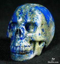 Lapis Lazuli Crystal Skull Pen Holder