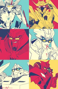 Transformers Prime Decepticons wearing glasses by Sarah Stone