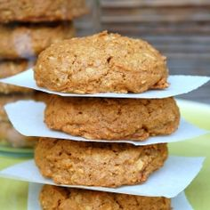 Vegan, Gluten Free Oatmeal Pumpkin Cookies.