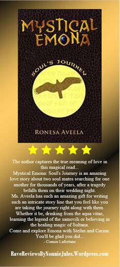 MYSTICAL EMONA by REBECCA CARTER, @RebeccaCarter_E #RRBC Receives 5 star reviews! Pick up your copy today! http://www.amazon.com/dp/B00M9FEYF6.