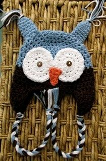 Daisy Cottage Designs-Free NB size crochet owl hat-other sizes available for purchase in her shop